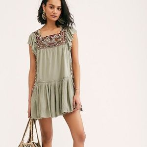 FREE PEOPLE Day Glow Dress in Spanish Moss Size L